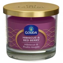 Gevuld glas purple hibiscus red berry 66/80