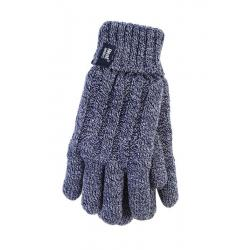 Ladies cable gloves S/M navy