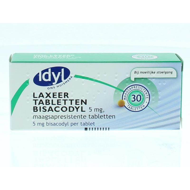 Bisacodyl laxeertabletten 5 mg