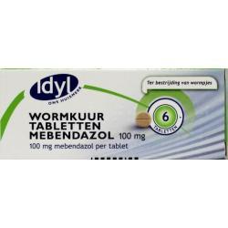 Wormkuurtabletten mebendazol 100 mg