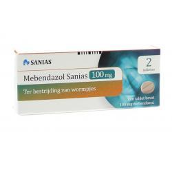 Mebendazol anti-wormtabletten 100 mg