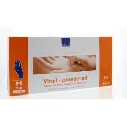 Handschoen vinyl poeder...