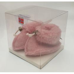 Noorse sloffen baby roze kubus
