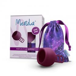Menstruatie cup galaxy paars
