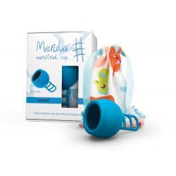 Menstruatie cup mermaid blauw