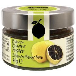 Zwarte citroen poeder