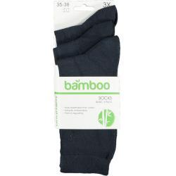 Bamboe sokken 3-pack blauw...