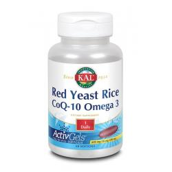 Rode gist rijst Co Q10 omega 3 ActivGels